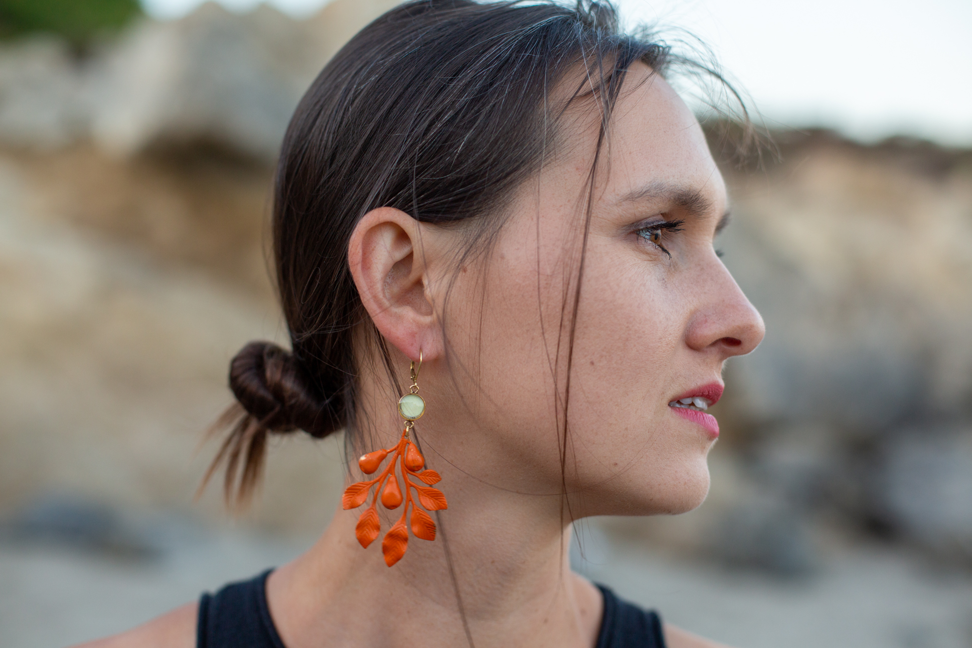 Fig 16. Back to Leo Carrillo State Park beach to photograph orange earings by  joeyfivecents .