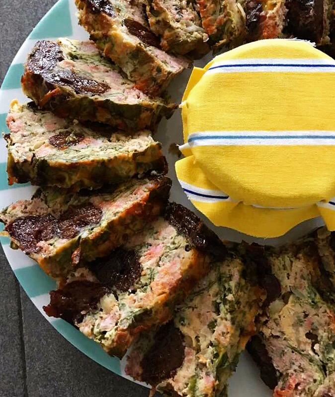 Prune & sausage loaf