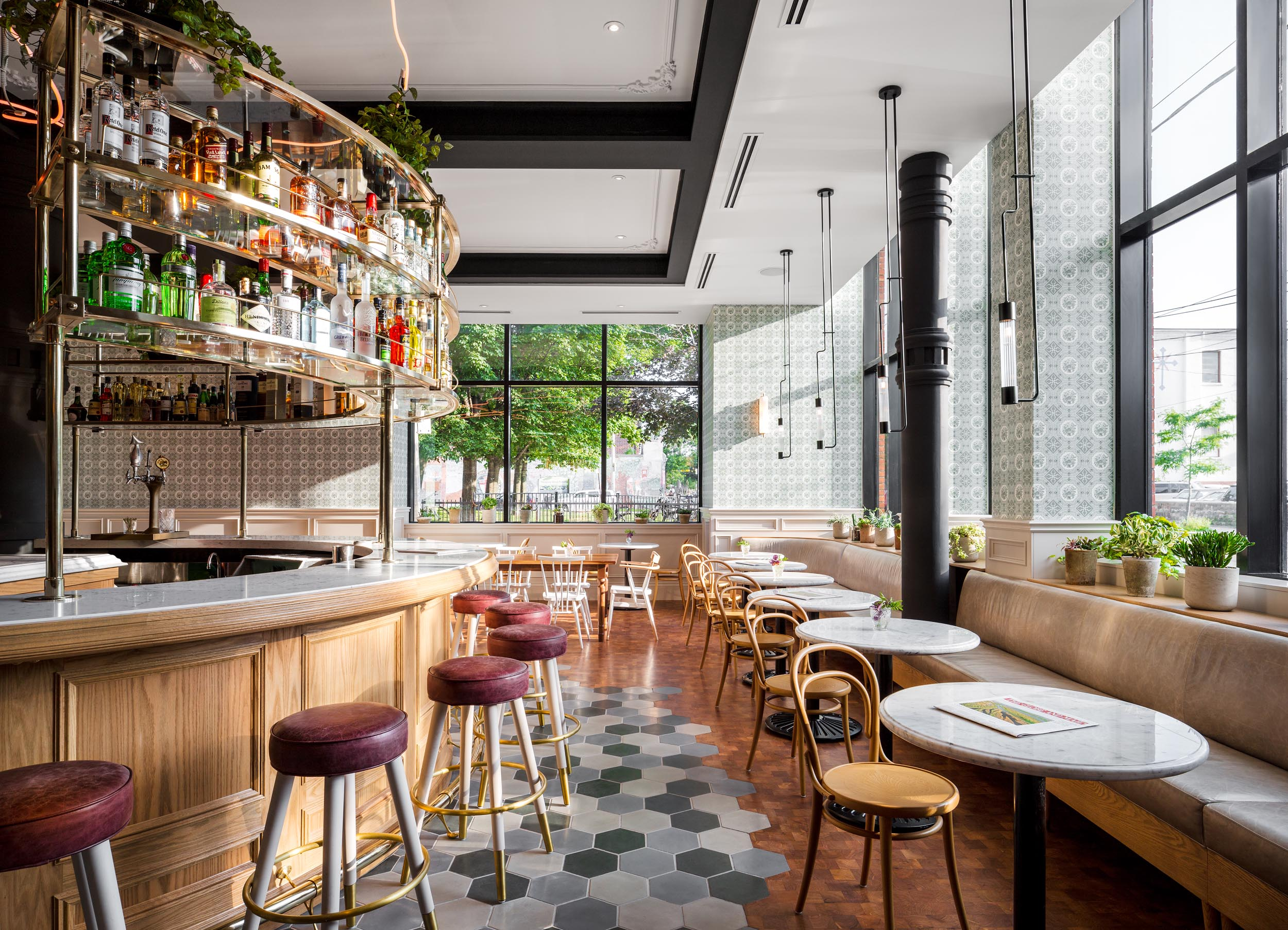 Restaurant Interior Photography of Broadview Hotel by Worker Bee Supply