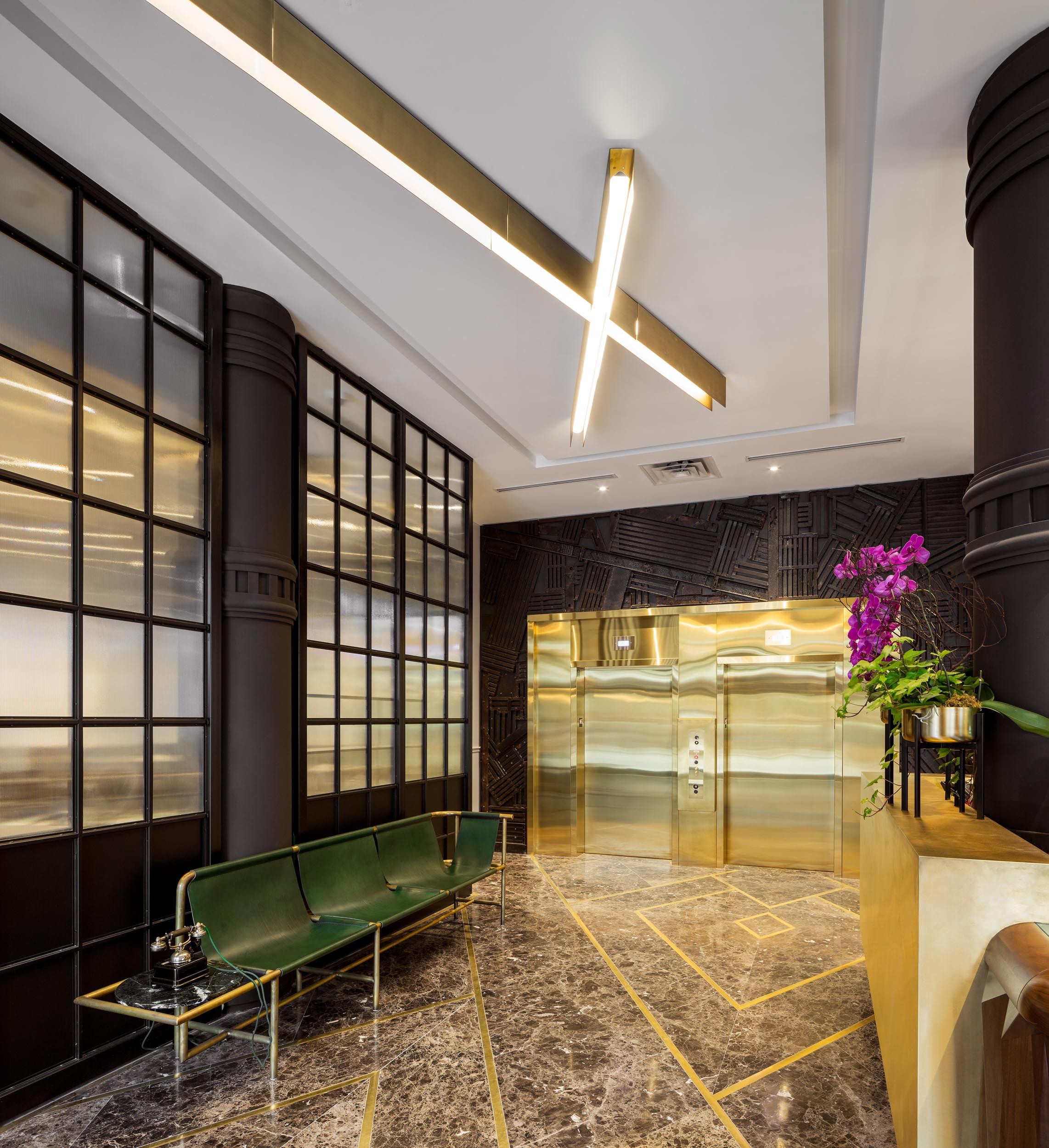 Broadview Hotel Lobby Interior Design Photography in Toronto
