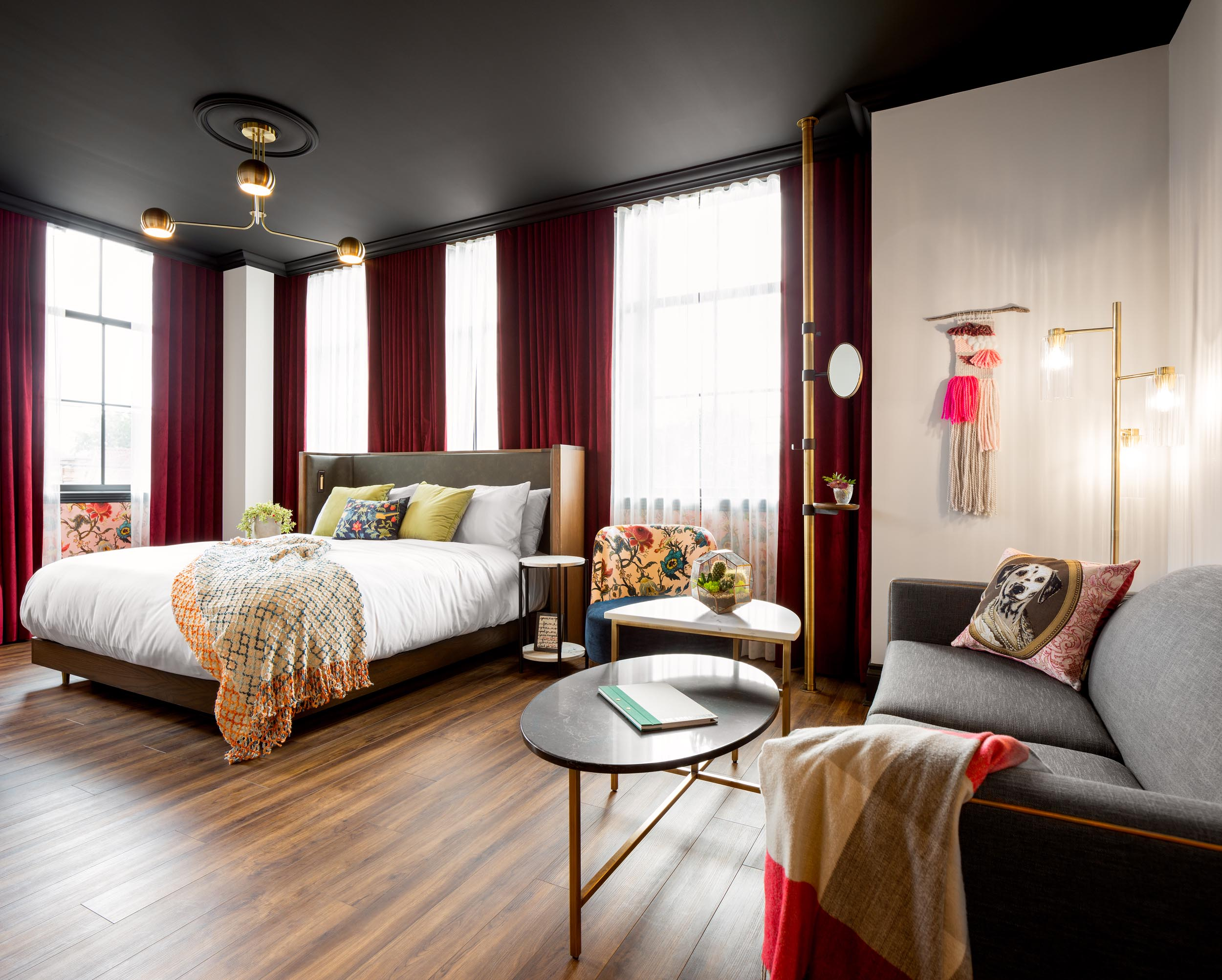 Broadview Hotel Toronto Modern Bedroom Interior Design Photography by Worker Bee Supply