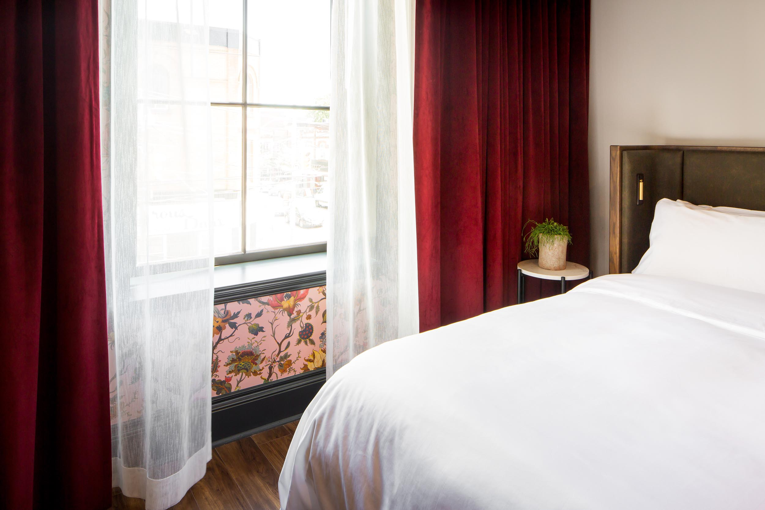 Broadview Hotel Small Room Interior Photography by Worker Bee Supply