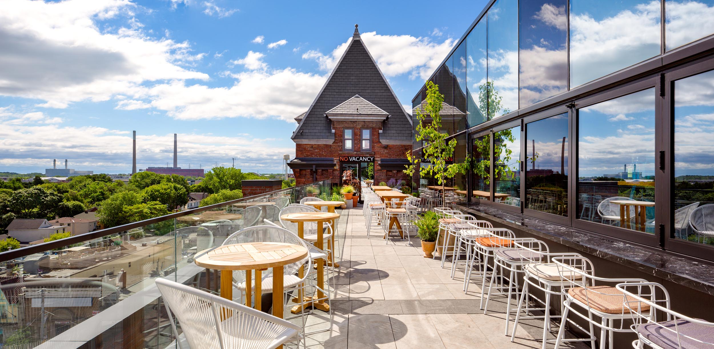 Broadview Hotel Toronto Rooftop Patio Architectural Photograph by Worker Bee Supply