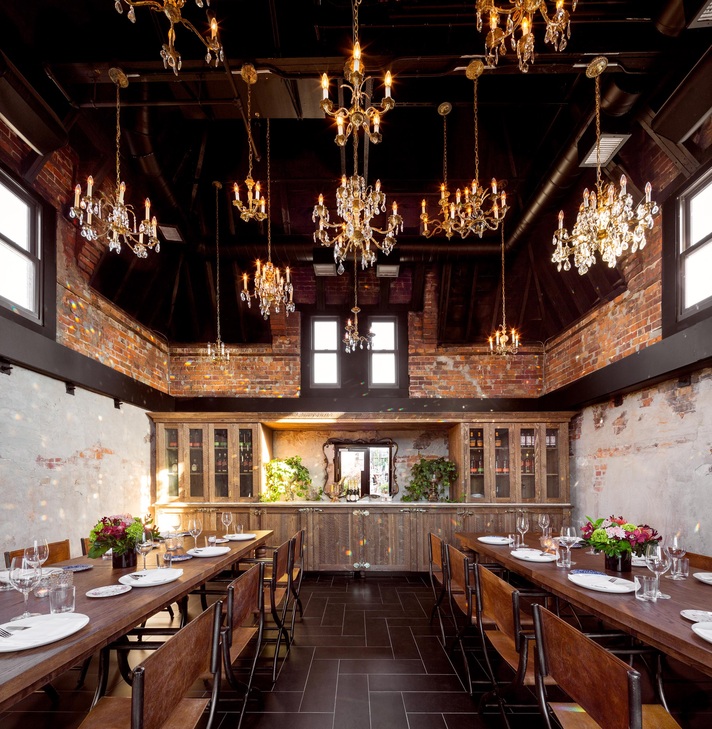 Broadview Hotel Private Dinning Room Interior Design by Design Agency Professional Photos by Worker Bee Supply