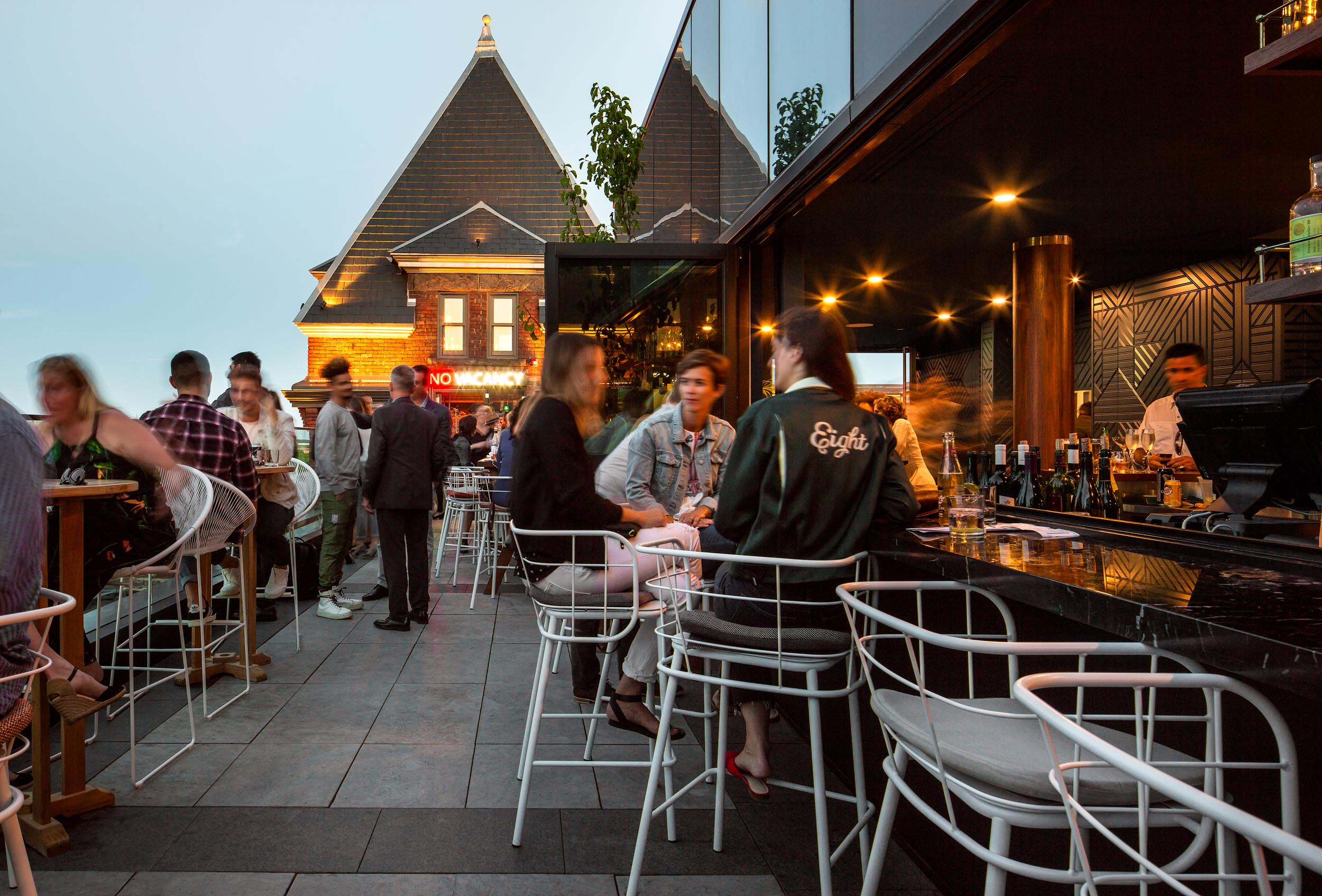 Broadview Hotel Toronto Rooftop Patio Architectural Photography by Worker Bee Supply