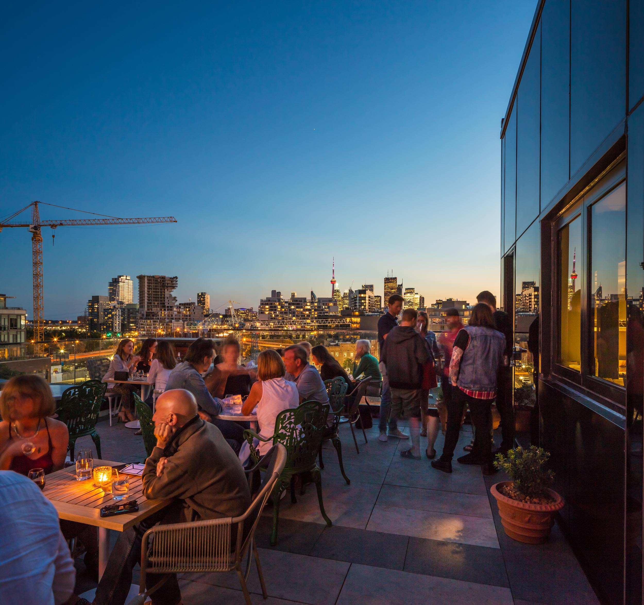 Toronto Skyline View from Broadview Hotel Rooftop Patio Architectural Photography by Worker Bee Supply