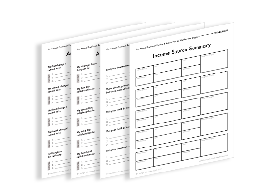 Printable Worksheets for Freelance Growth Planning in Free E-Book