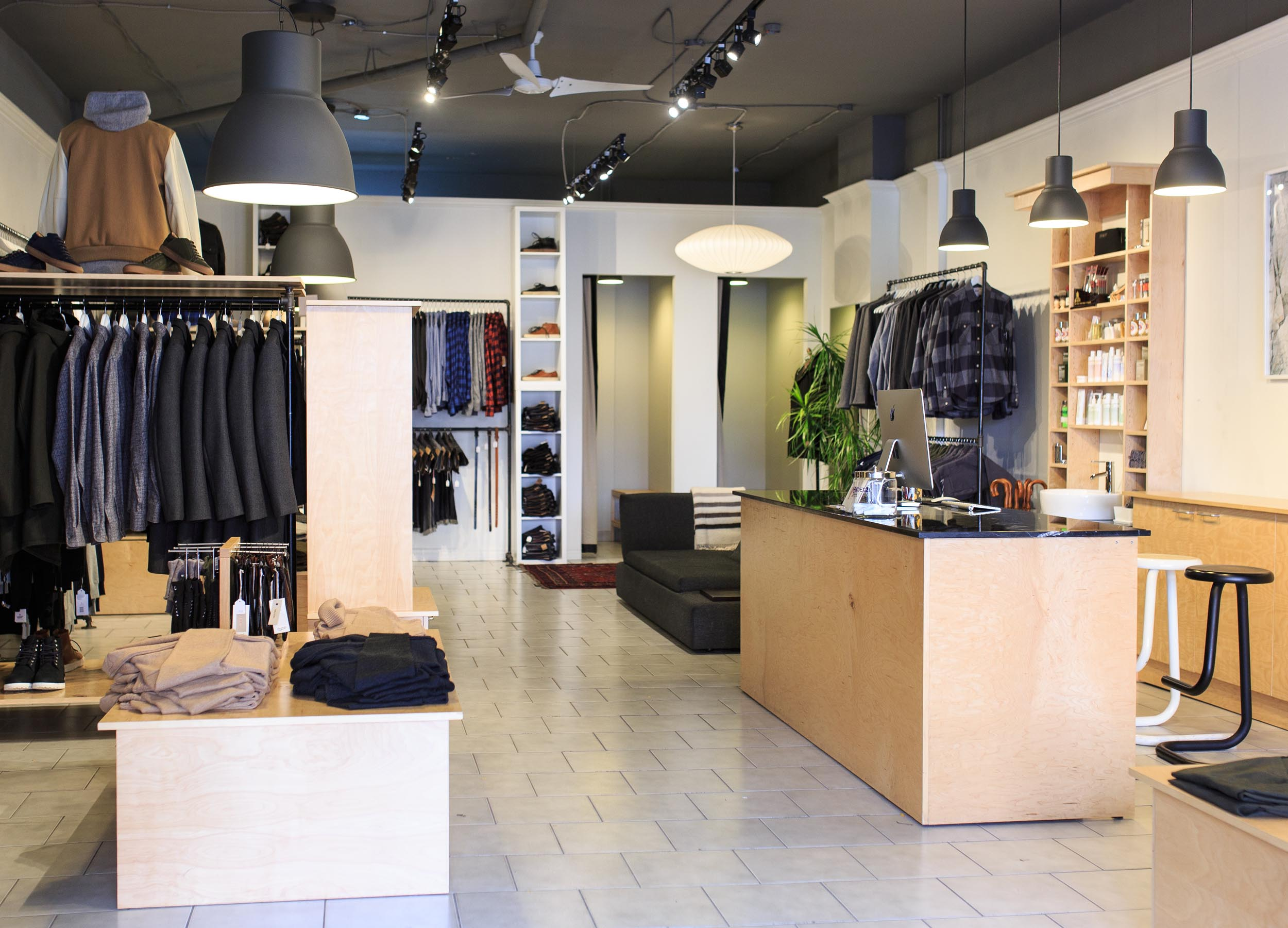 Interior Photography of Gerhard clothing store in Toronto by Worker Bee Supply