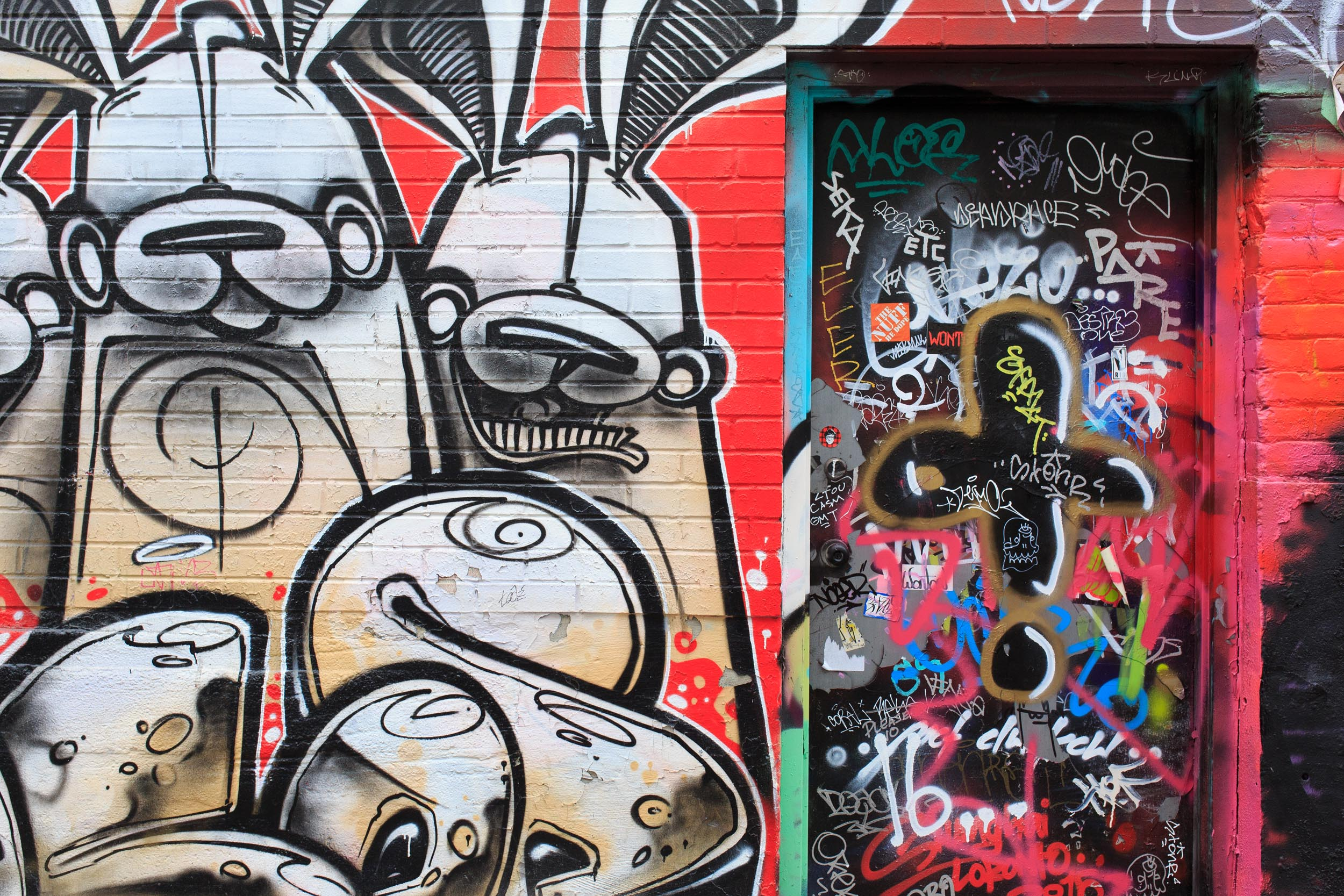 Toronto Graffiti Alley Photography by Worker Bee Supply