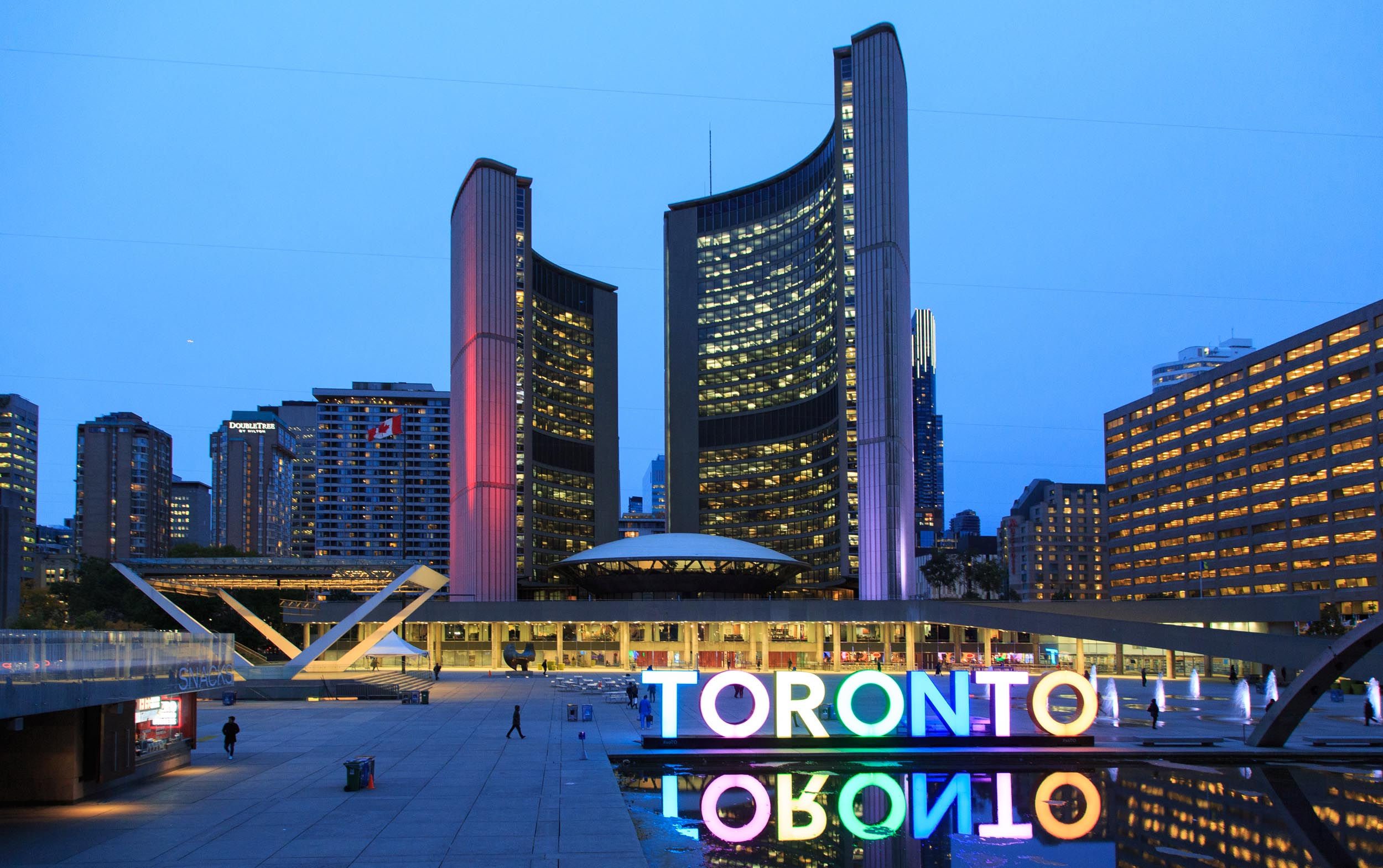 Professional Toronto Travel Photography of City Hall and Nathan Phillips Square by Worker Bee Supply
