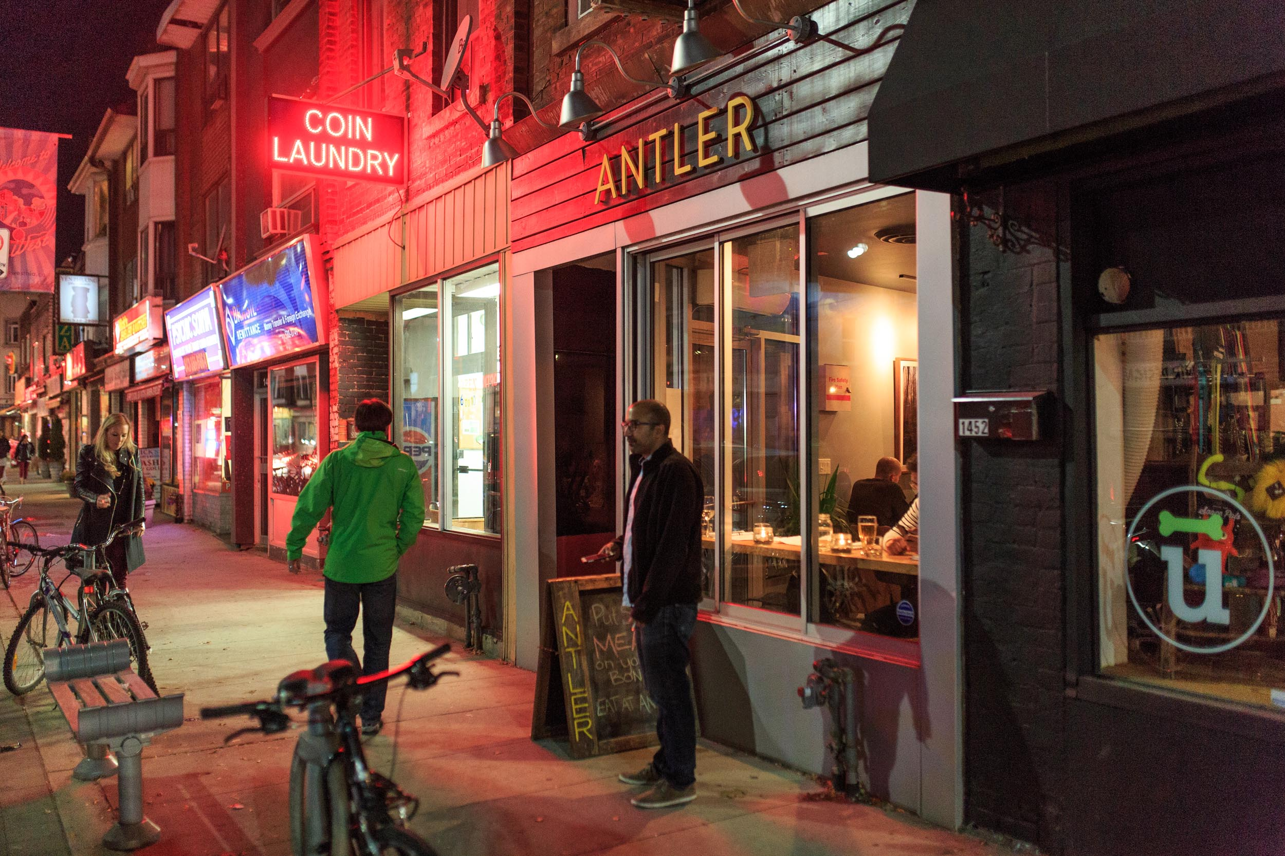 Exterior Photography of Antler Restaurant for New York Times