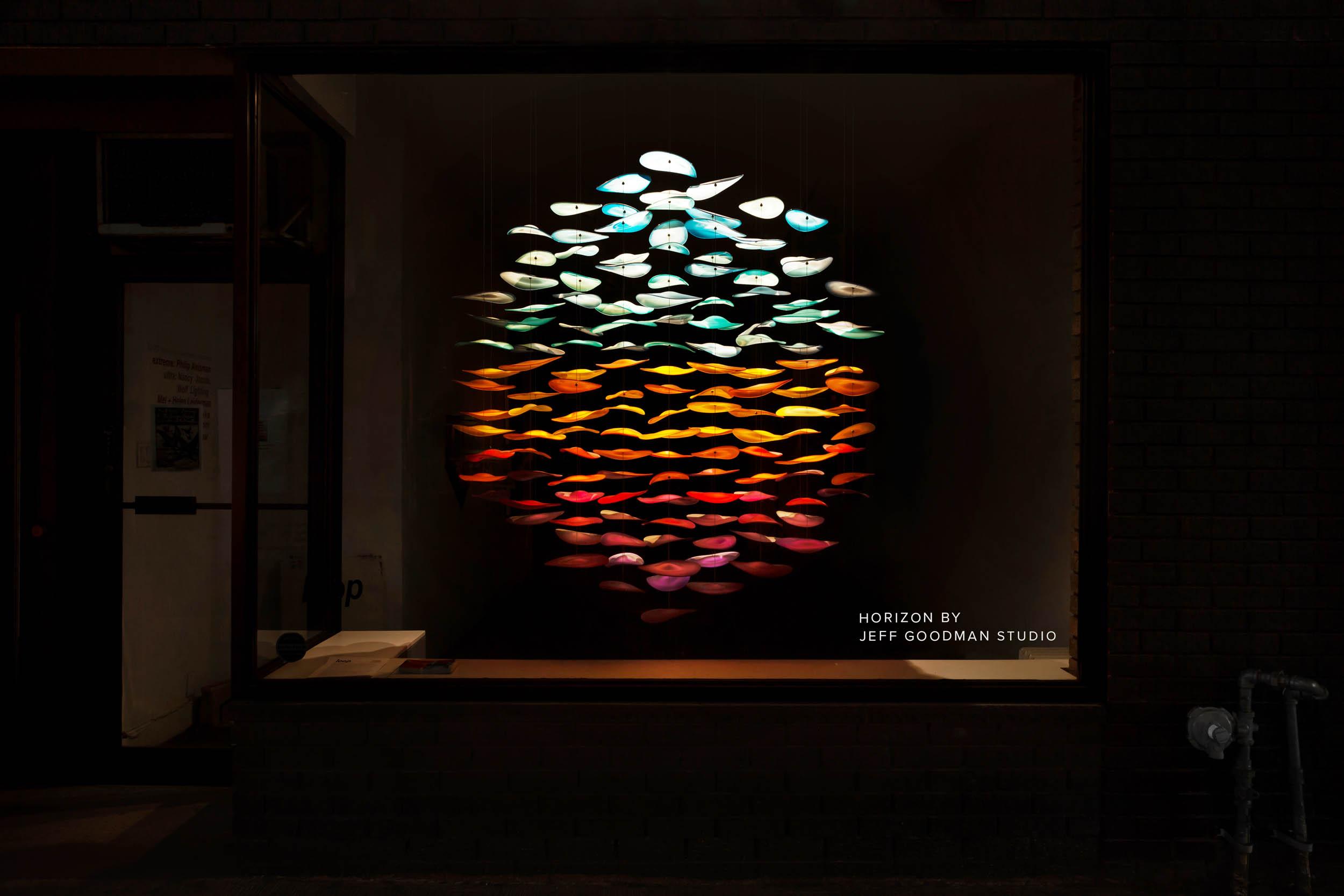 Horizon Blown Glass Art Installation by Jeff Goodman Studio