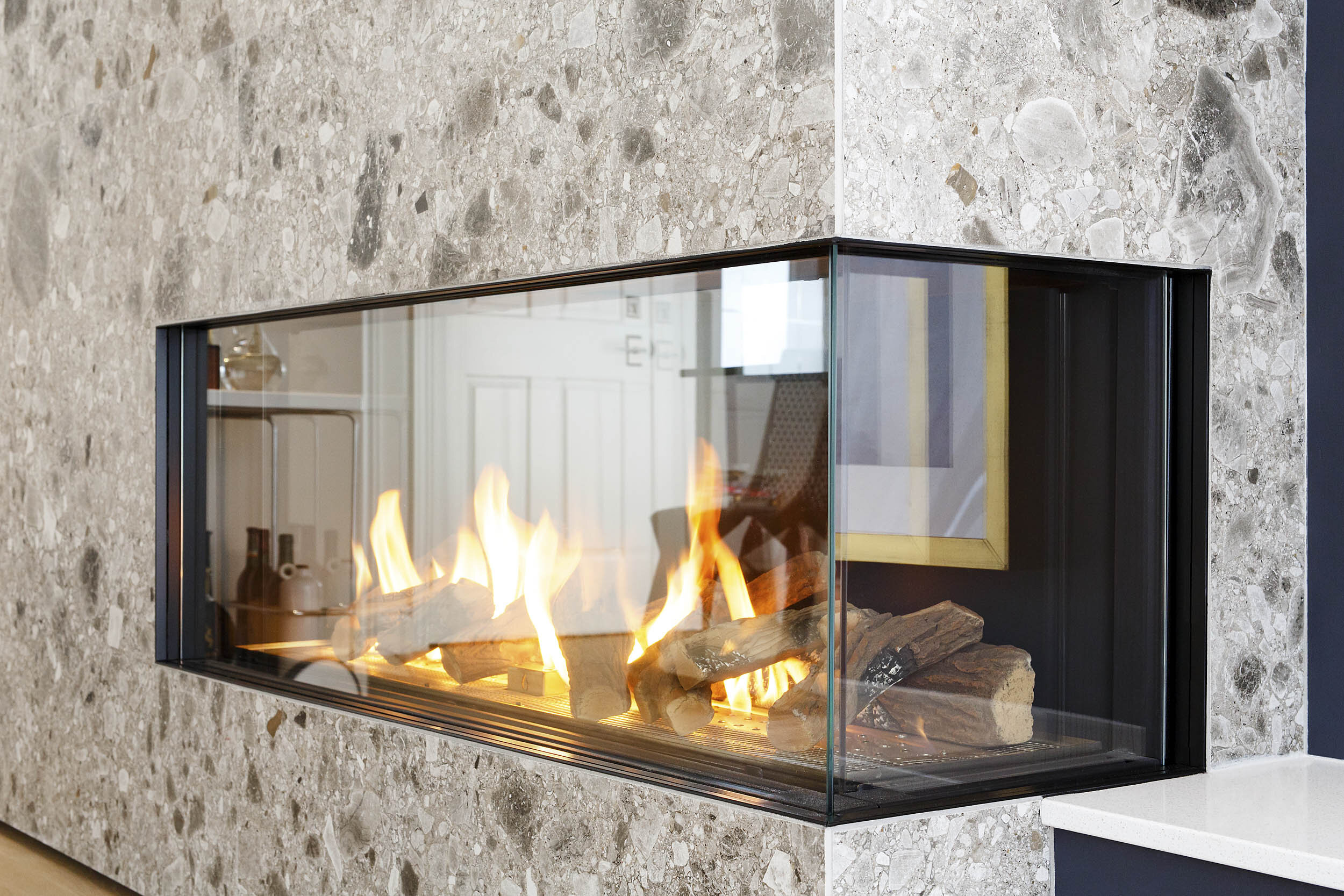 Detail of a Modern Fire Place Residential Interior Photography