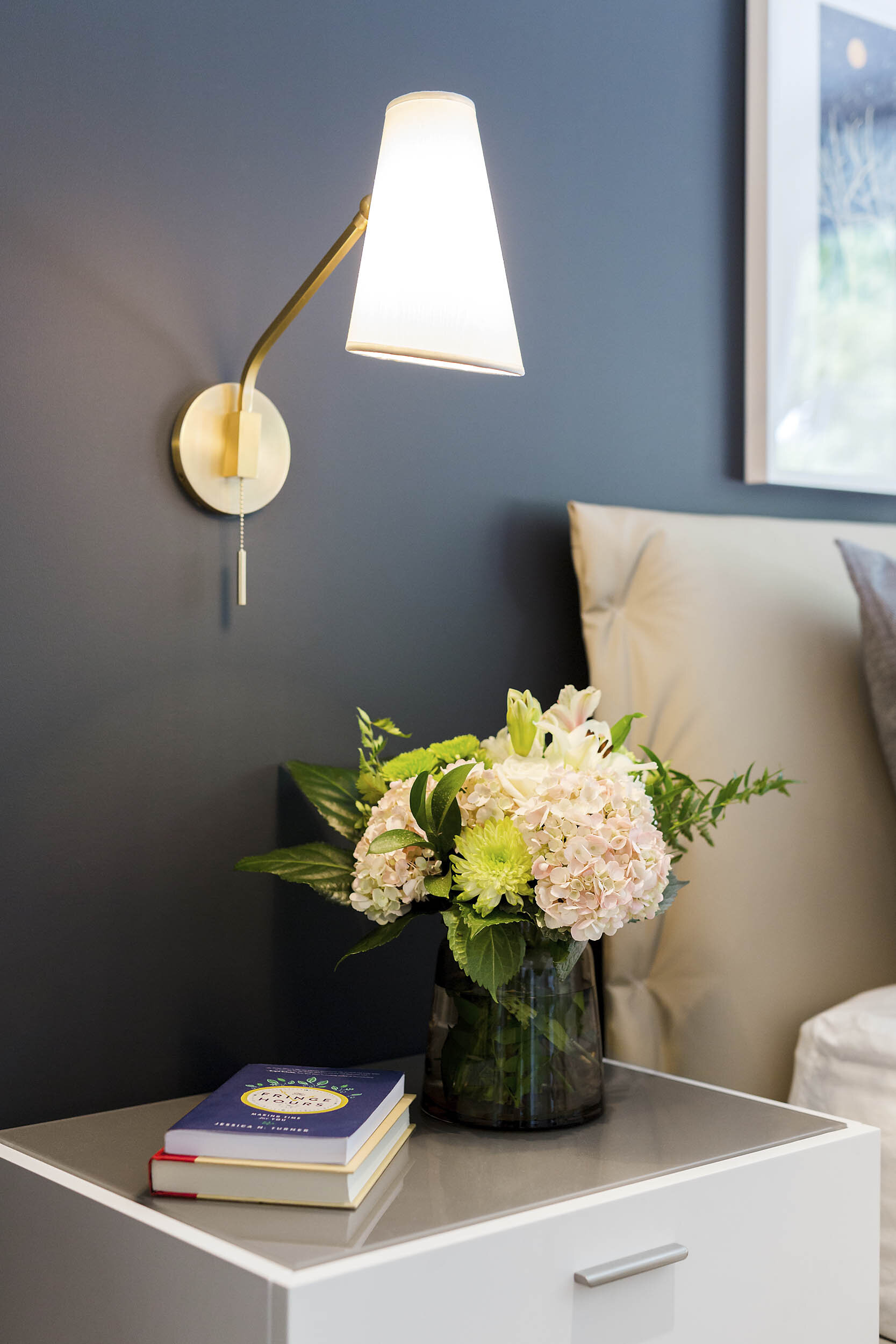 Bedside Table Interior Photography by Worker Bee Supply