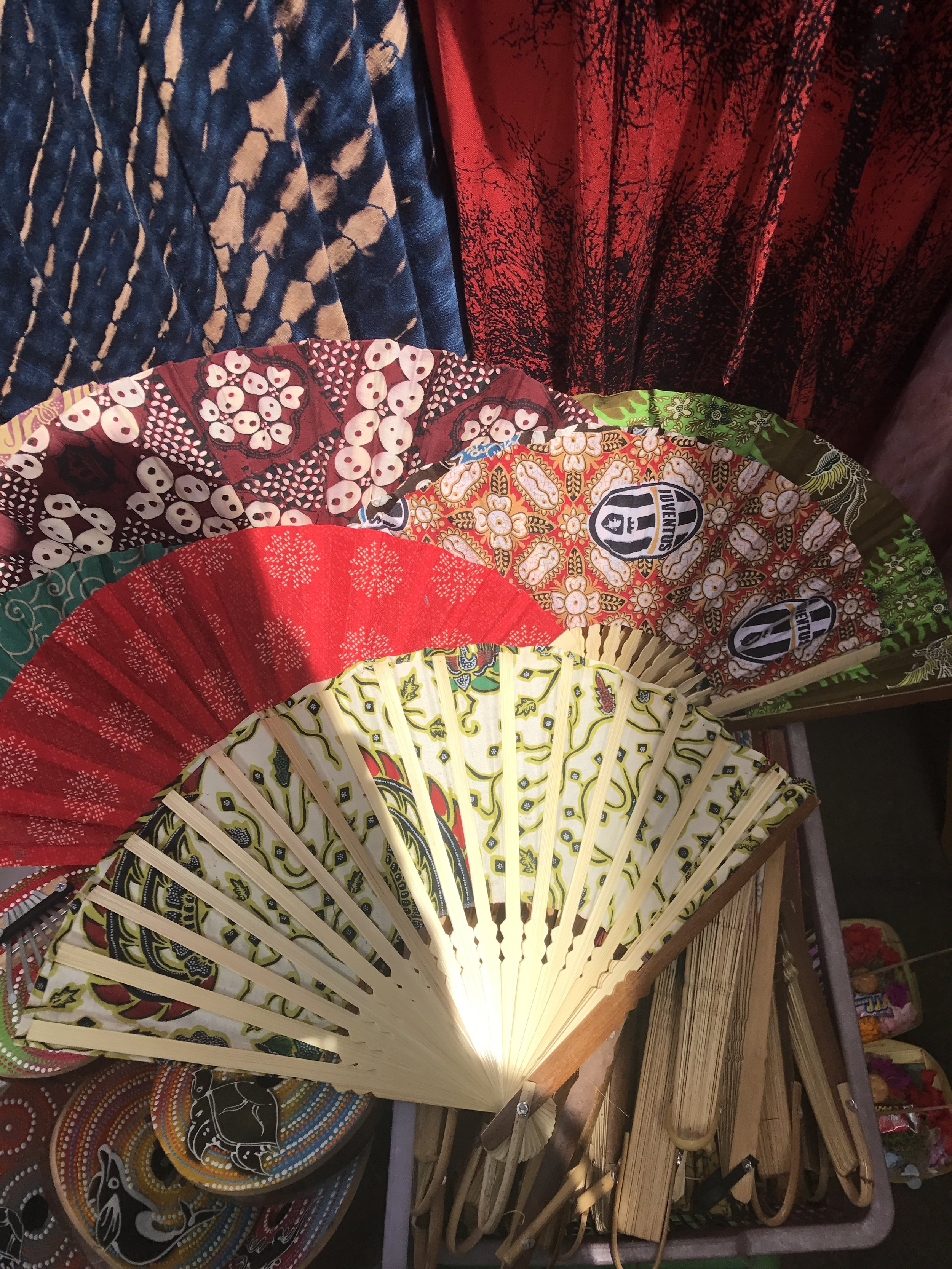 These fans definitely helped to block the heat of the Bali sun.