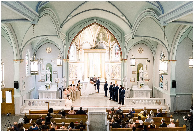 St. Aloysius Chapel the center downtown cincinnati wedding photographer ji cherir photography