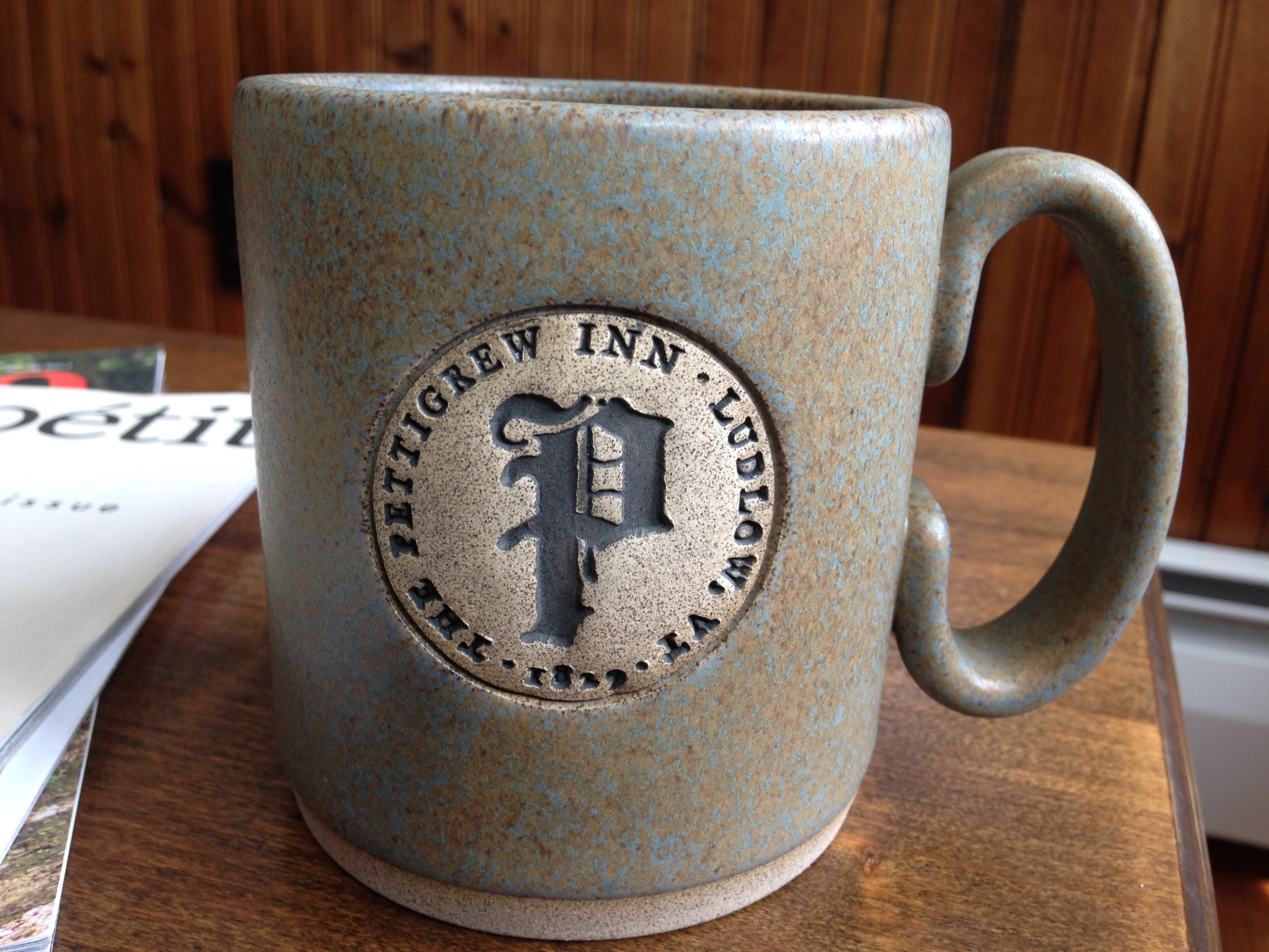 The Pettigrew Inn is proud to support local Vermonters by serving Vermont Artisan Coffee & Tea Company beverages every morning in hand-thrown mugs from Pizzazz Pottery
