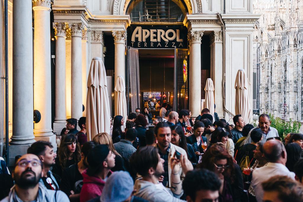 L Aura Live Showcase Terrazza Aperol Milan September 20