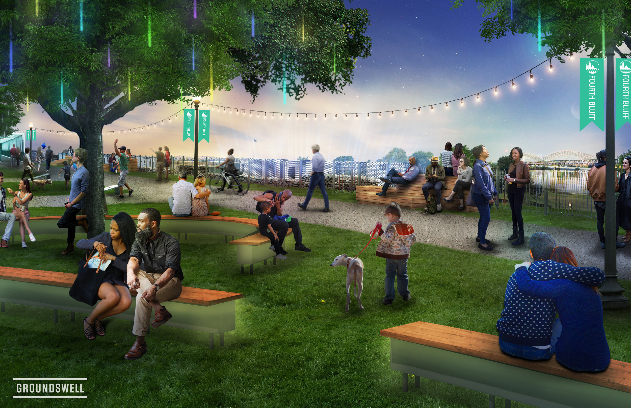 """One-of-a-Kind - Through site improvements, the addition of key amenities, and engagement through strategic programming, it will become a one-of-a-kind space for the community, one that evolves and transforms based on public input— a true """"design-from-the-bottom-up"""" approach."""