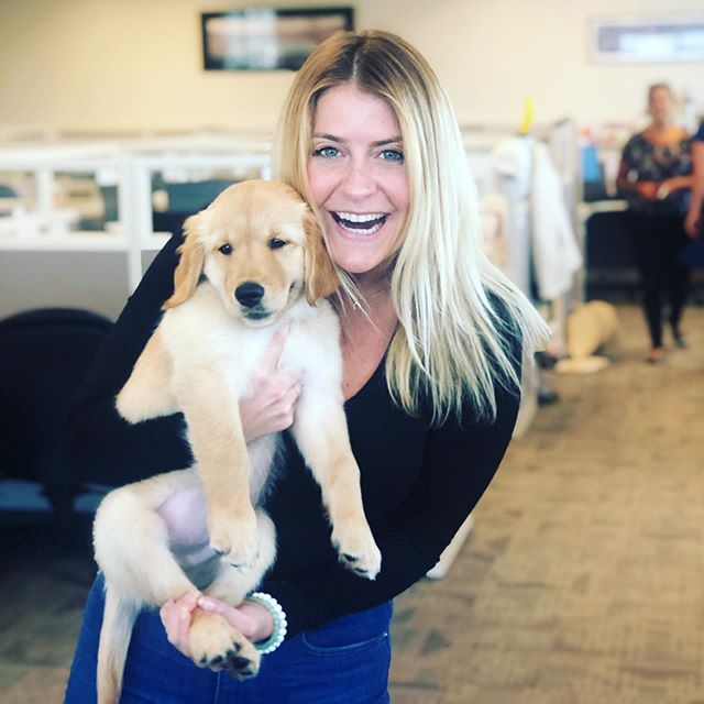 Dying. Crying. Ovaries on fire. Our little visitor in the office today had everyone feeling all the feels. I can't think of anything in the world better than a puppy. Good job, Katelyn. You made a beautiful baby!!