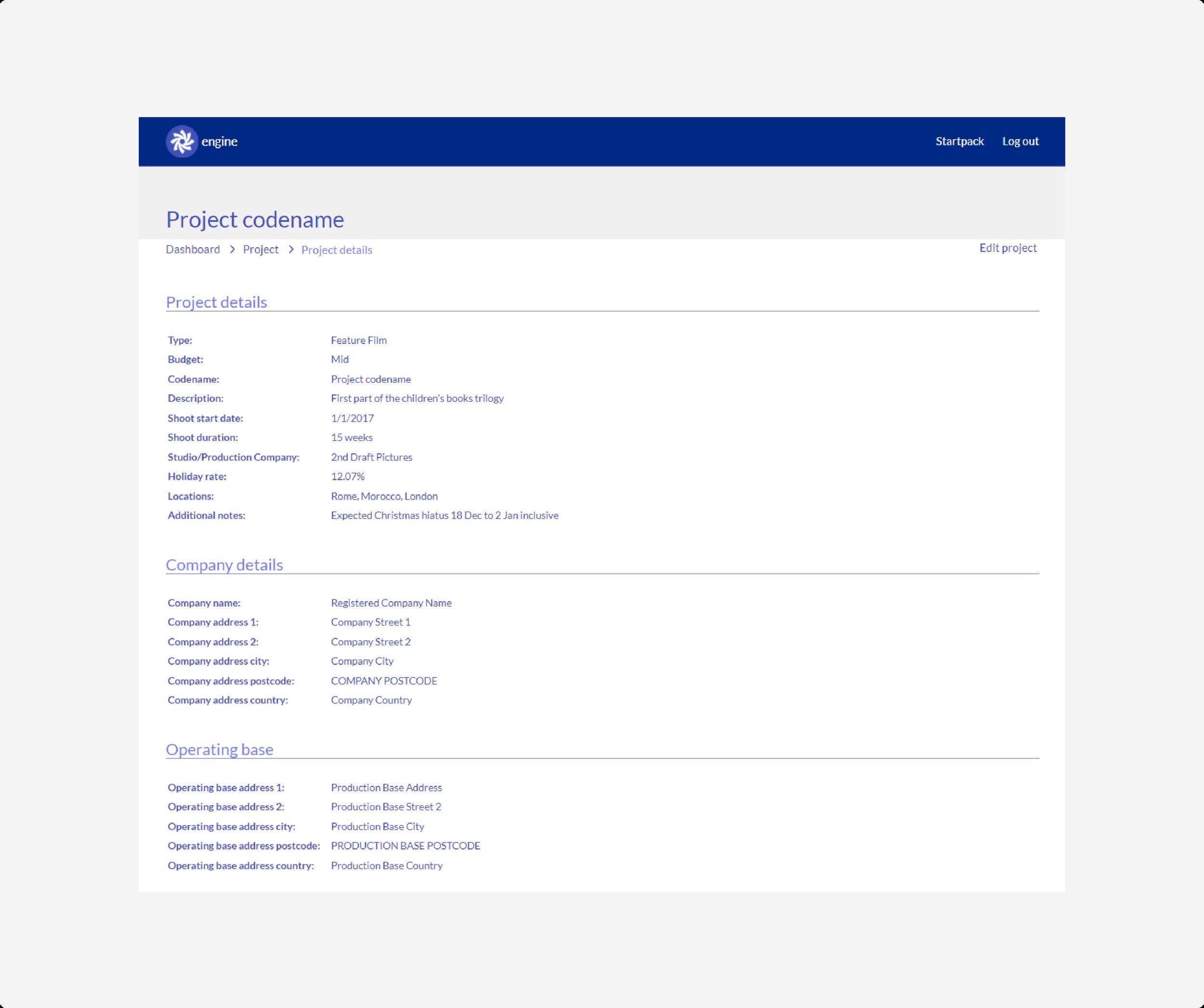 project - edit details