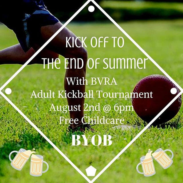 Who's up for some adult kickball?We're organizing a Young Professionals team for @bvrec Kickball for Grown-ups on Friday, Aug. 2nd. $15 per player. 8-player minimum. Comment below if you want to play!