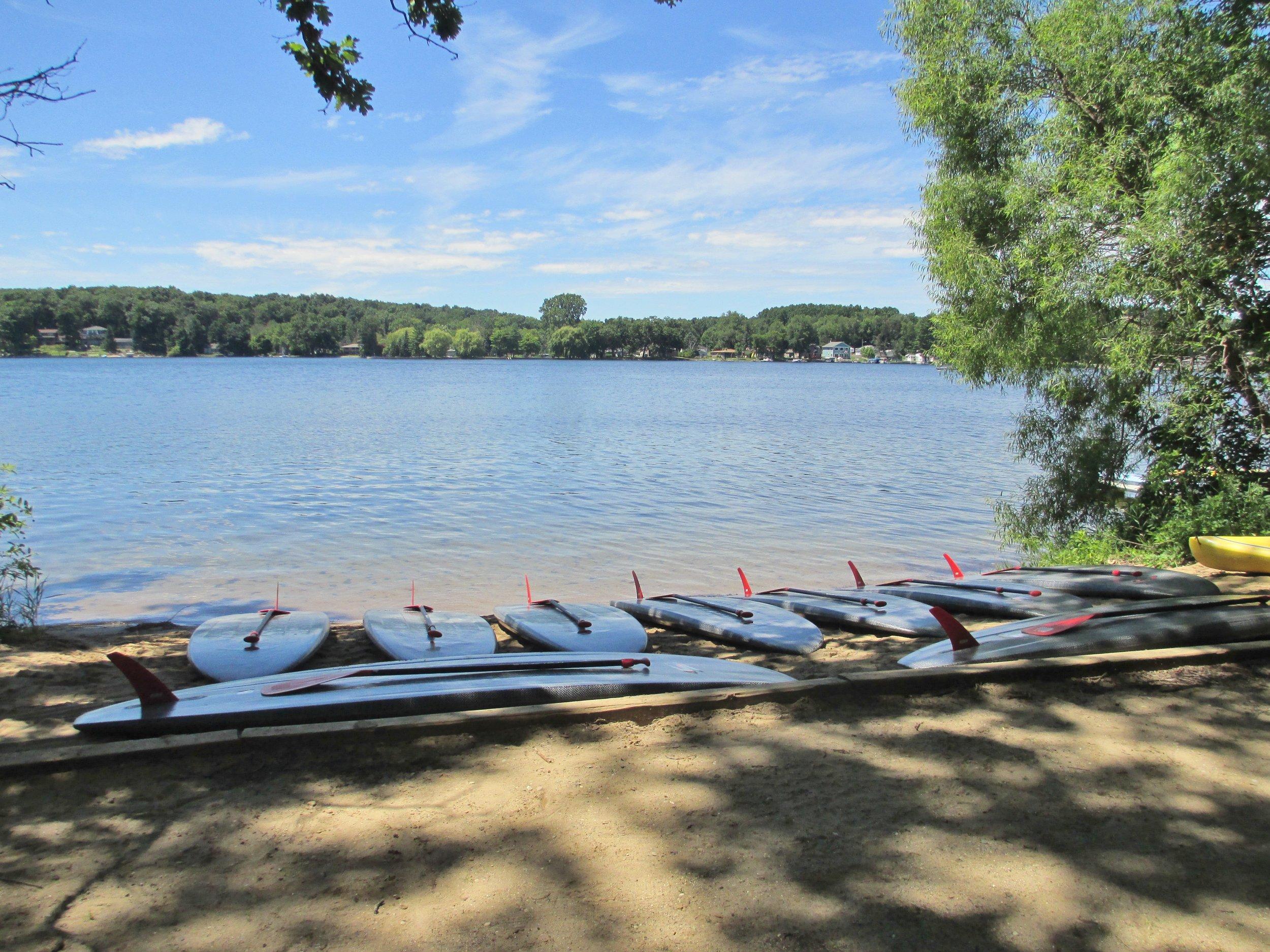 Waterfront Scenery -Paddleboard set up.JPG