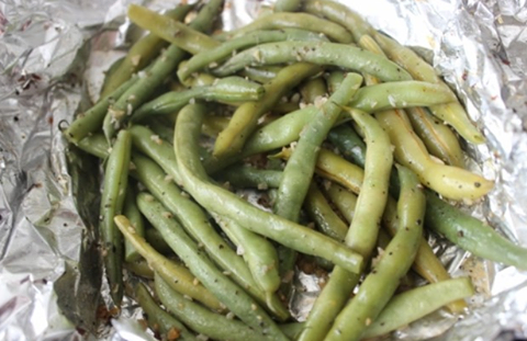 Grilled Green Beans -