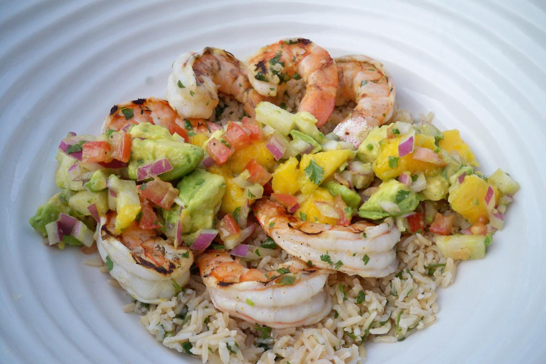 Shrimp with Mango Salsa -