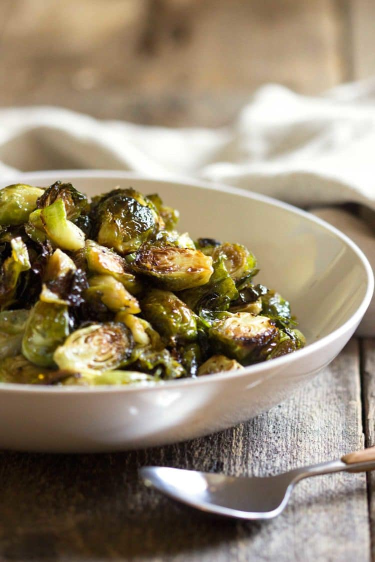 Honey Roasted Brussels Sprouts -