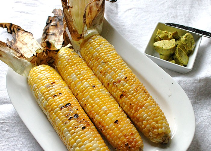 Grilled Sweet Corn   -