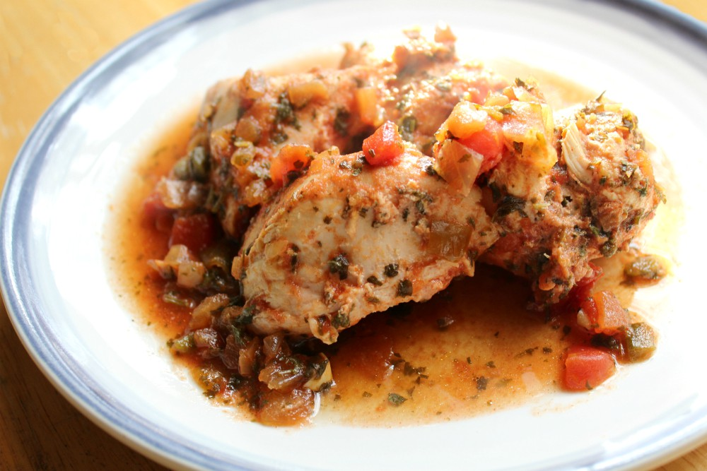 Slow Cooker Salsa Chicken -