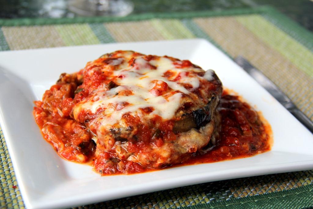 Baked Eggplant Parmesan -
