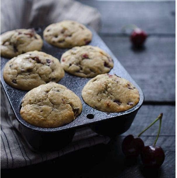 Cherry Vanilla Muffins -
