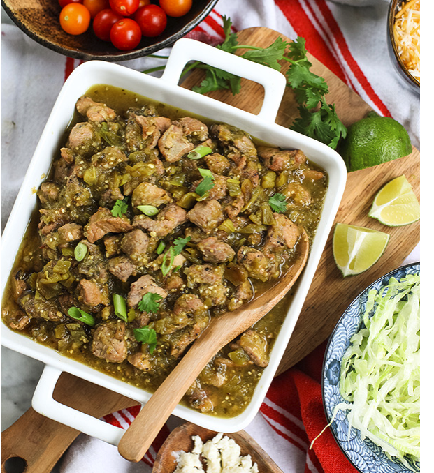 Slow Cooker Hatch Green Chile Verde -