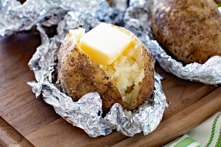 Grilled Baked Potatoes -