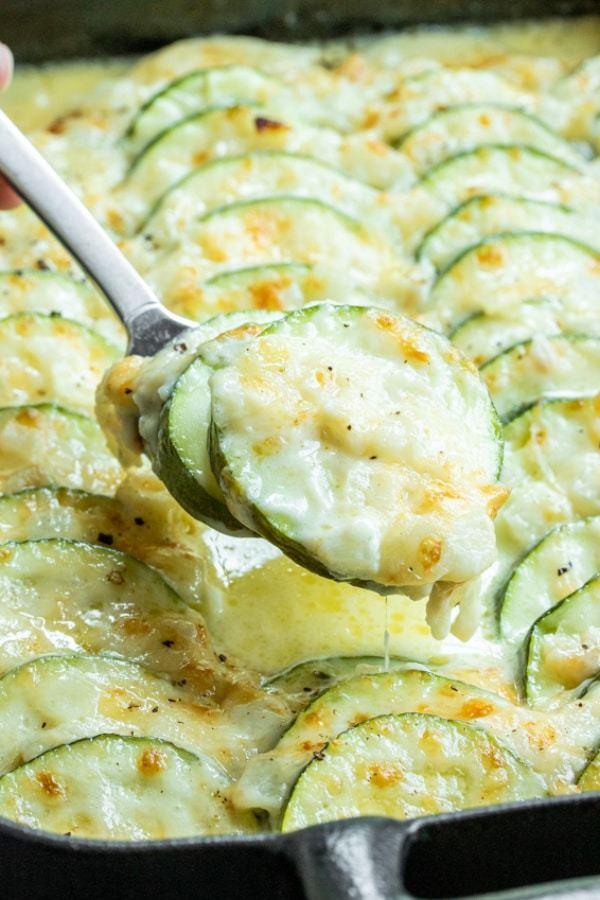 Cheesy Baked Zucchini Casserole -