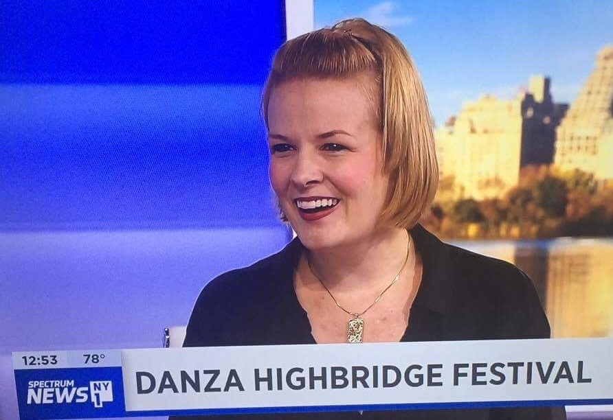 Live on NY1 - Cassie recently visited NY1 to promote ThruLines' and the Danza Highbridge Festival.