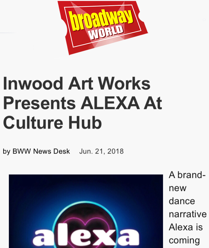 Alexa featured on Broadway World! -