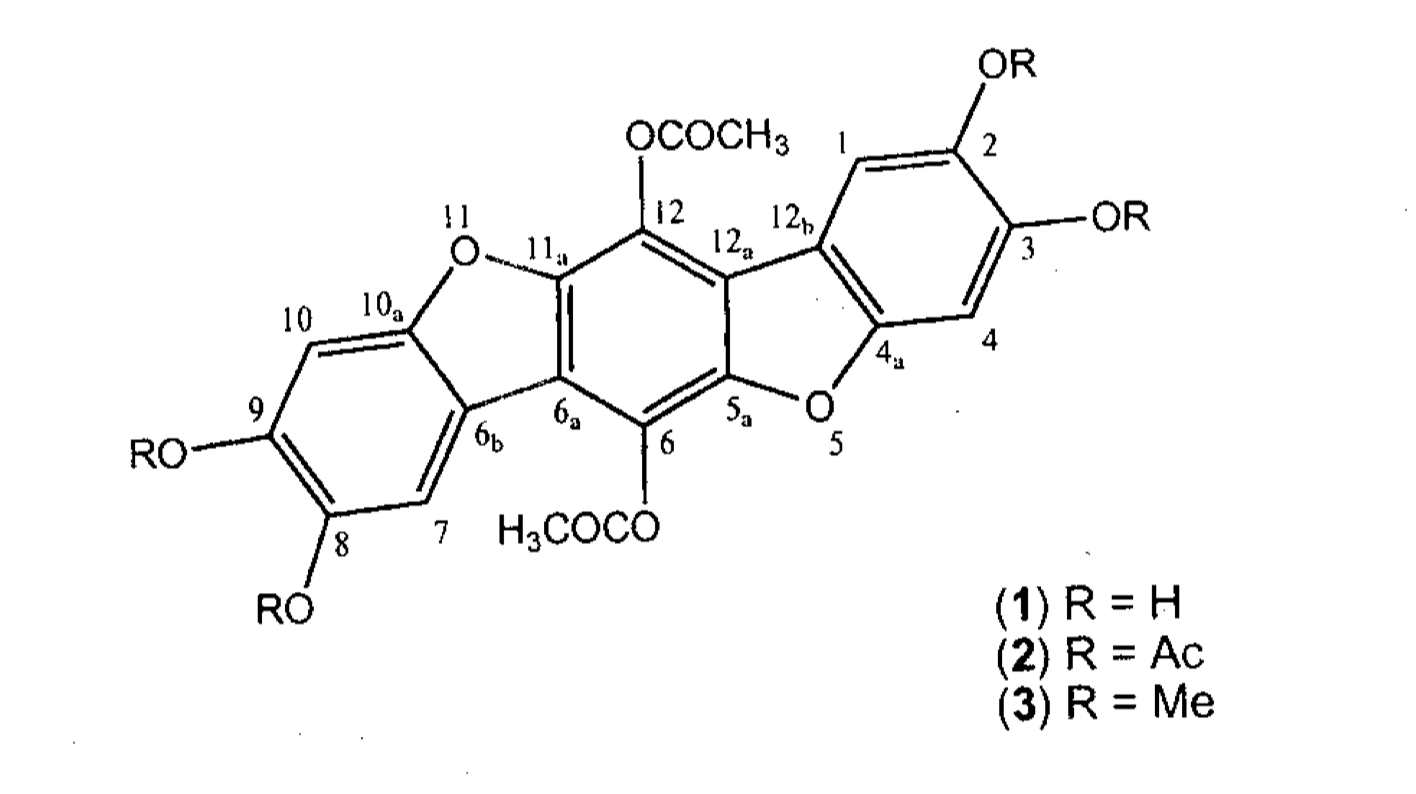 The chemical structure of polyozellin.  Hwang et al. 1997.