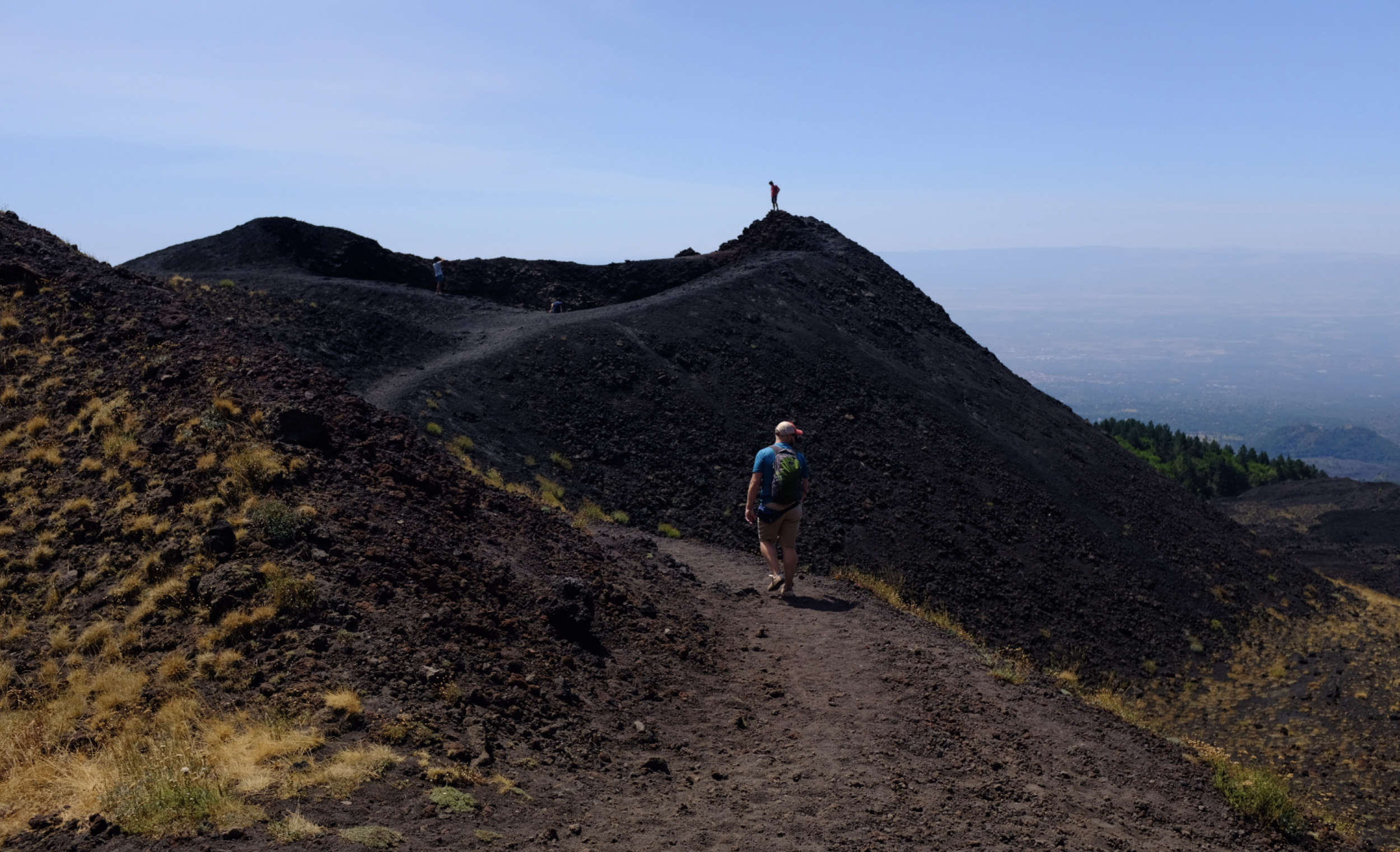 Exploring Mount Etna with my Brother-In-Law.