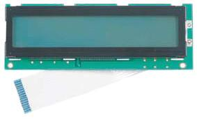 The module has a green circuit board with a white ribbon cable.