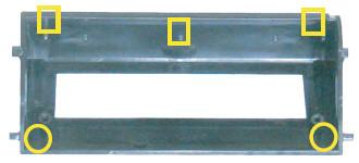 This style case has only 3 support posts and the screw posts are at the bottom edge of the case housing.