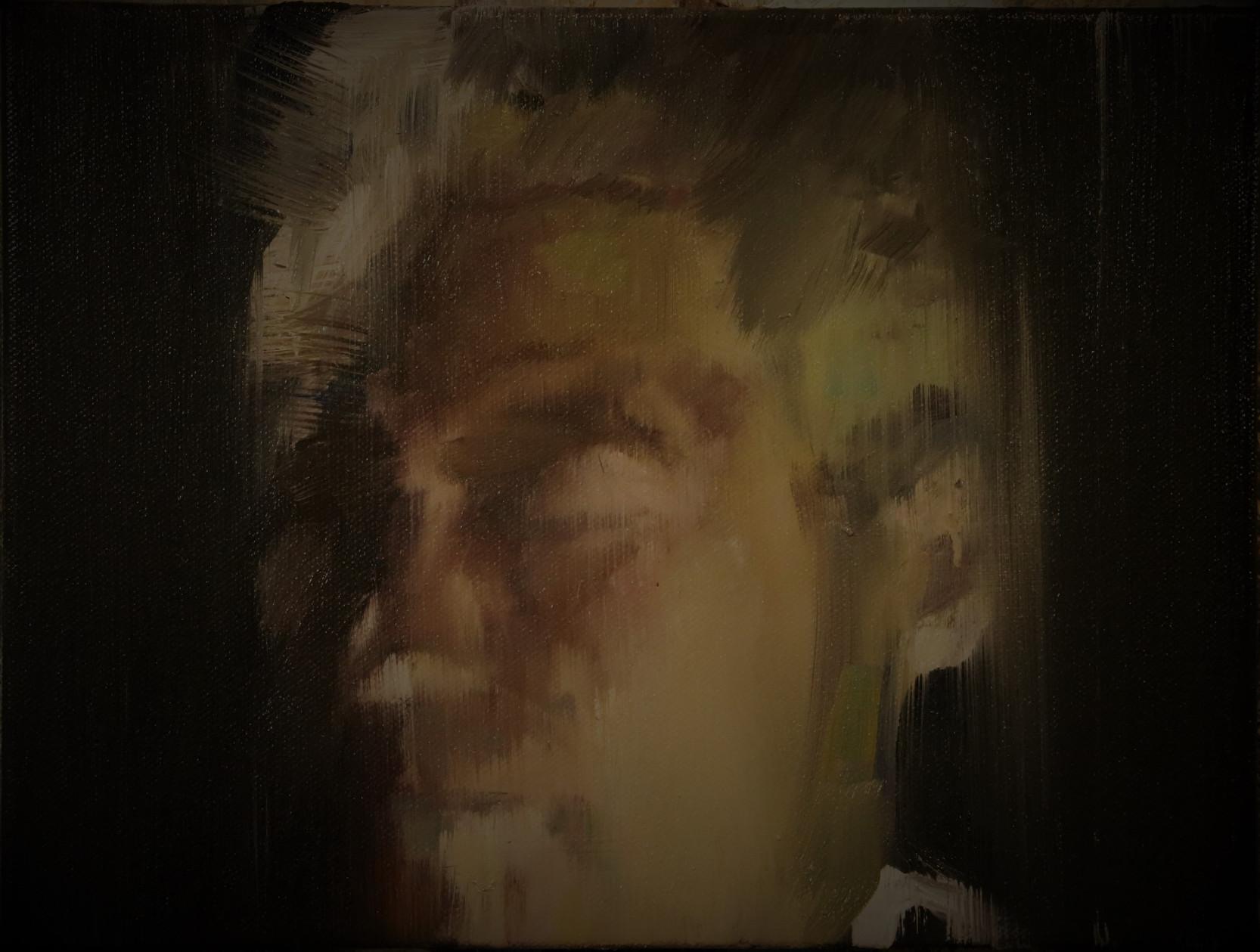 Portrait (Golden Face), oil on linen, 40x60cm, 1/2017