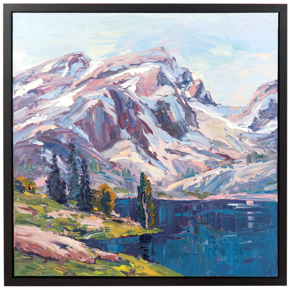 Brad Teare, Saddle Ridge  (2016) . Oil on Canvas. 24 x 24 in.  Available at Anthony's Fine Art , Salt Lake City.