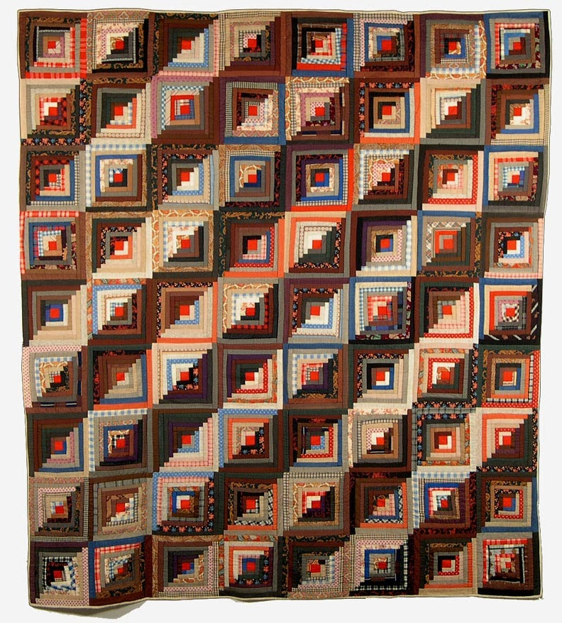 Log Cabin Quilt  from the book  Quilts and Women of the Mormon Migration