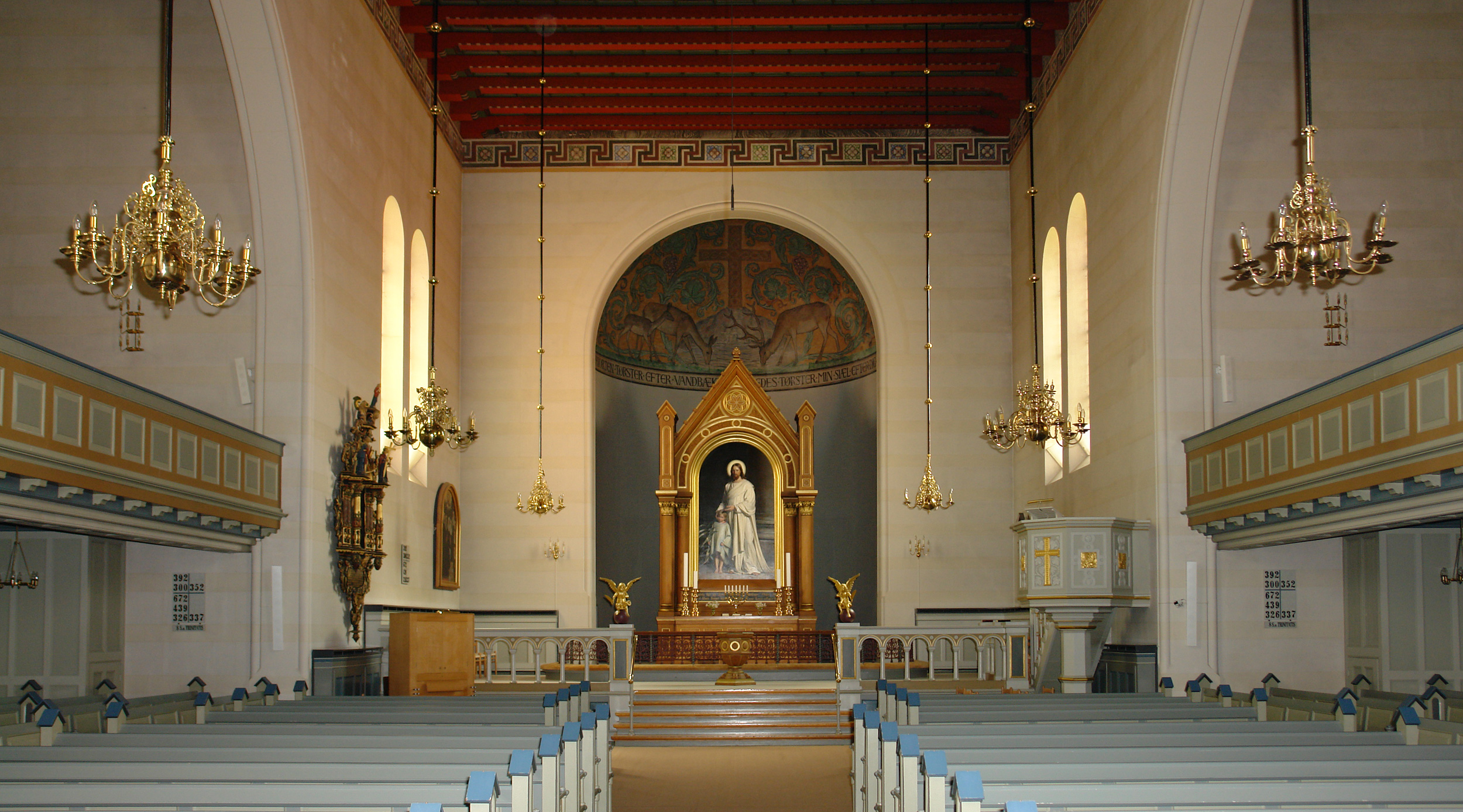 Interior of the  Skt. Nikolai Kirke  Holbaek, Denmark.