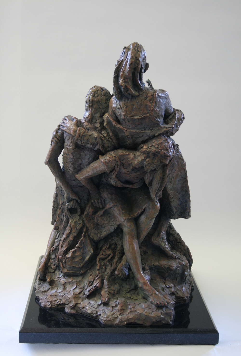 Outside the   Circle (Back)  by Michael Aaron Hall. Bronze.