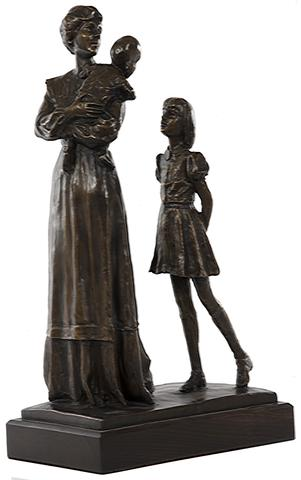 In Her Mother's Footsteps by Dennis Smith. Bronze.