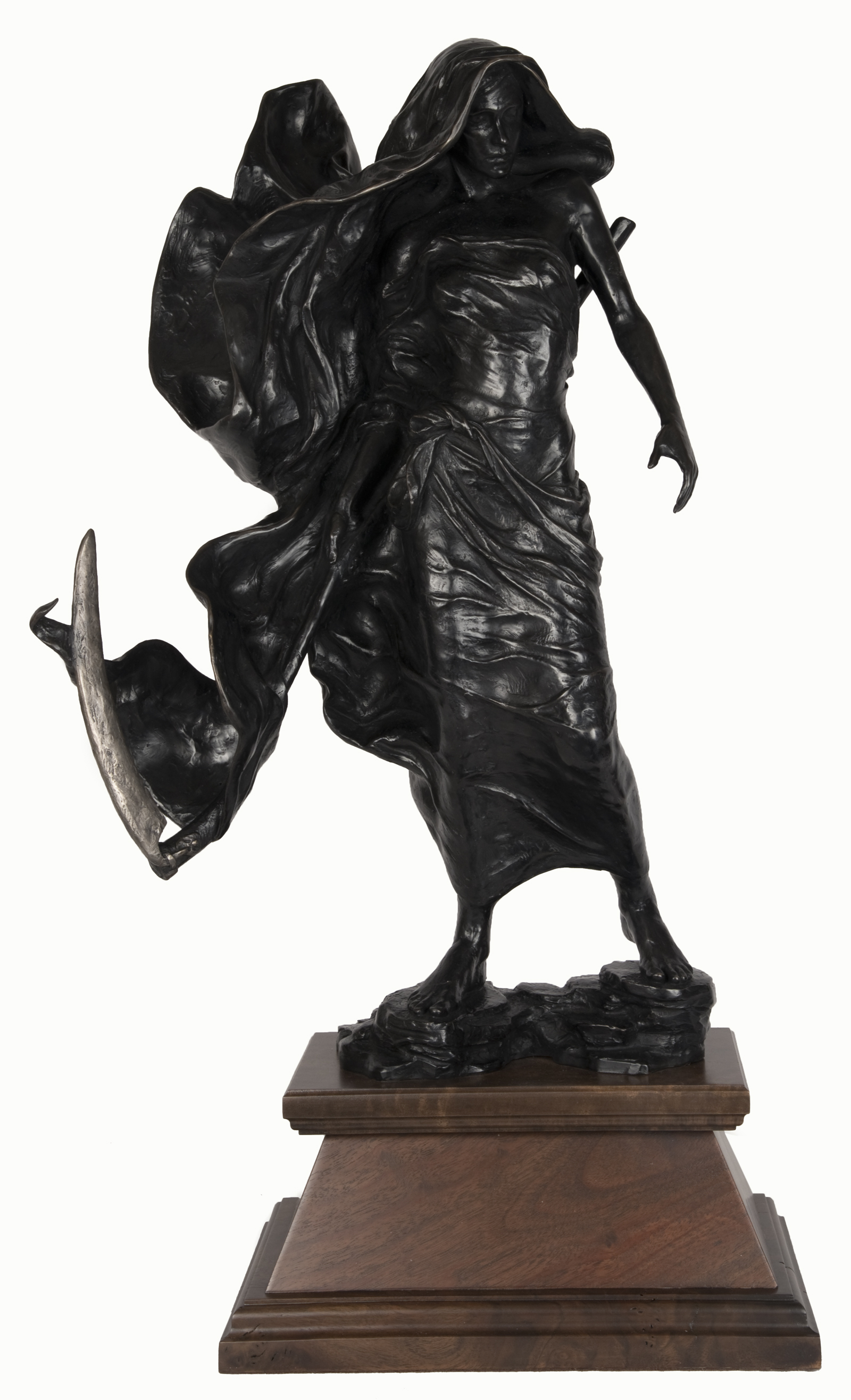 The Reaper by Tyson Snow   /   bronze   /   28 1/2 × 15 × 12 (in)    /   Date of Creation: 2014. The Reaper won first place in the 2015 International ARC Salon competition at the European Museum of Modern Art in Barcelona, Spain.